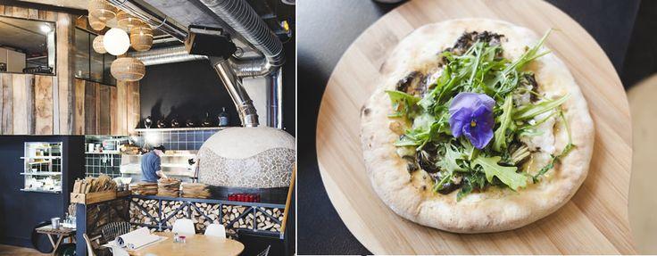 Pizza aux fleurs et à la truffe Wanted, café, restaurant italien, bar à cocktails 46 bis rue de Meaux, 75019