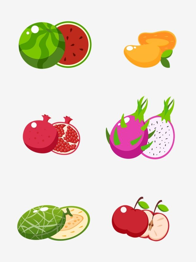 Simple Hand Drawn Watermelon Pomegranate Fruit Slice Collection Watermelon Mango Pomegranate Png Transparent Clipart Image And Psd File For Free Download Pomegranate Fruit How To Draw Hands Fruit Cartoon
