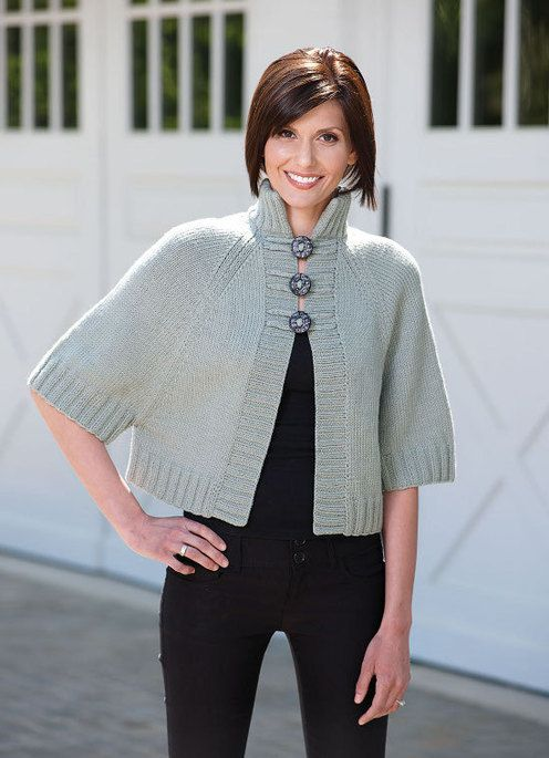 Pseudo cape to knit by Sandi Rosner