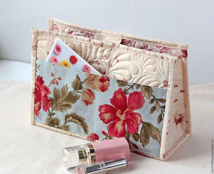 Купить Органайзер для сумки, тинтамар Fleur, несессер - голубой, цветочный, Органайзер для сумки, тинтамар, несессер