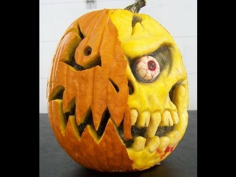 How to Carve a Funkin (artificial pumpkin) with a Dremel - YouTube