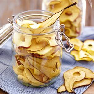 Gedroogde appels en peren
