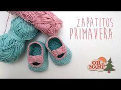 Zapatitos Lazo a crochet para bebés ( 0 a 3 meses) - YouTube