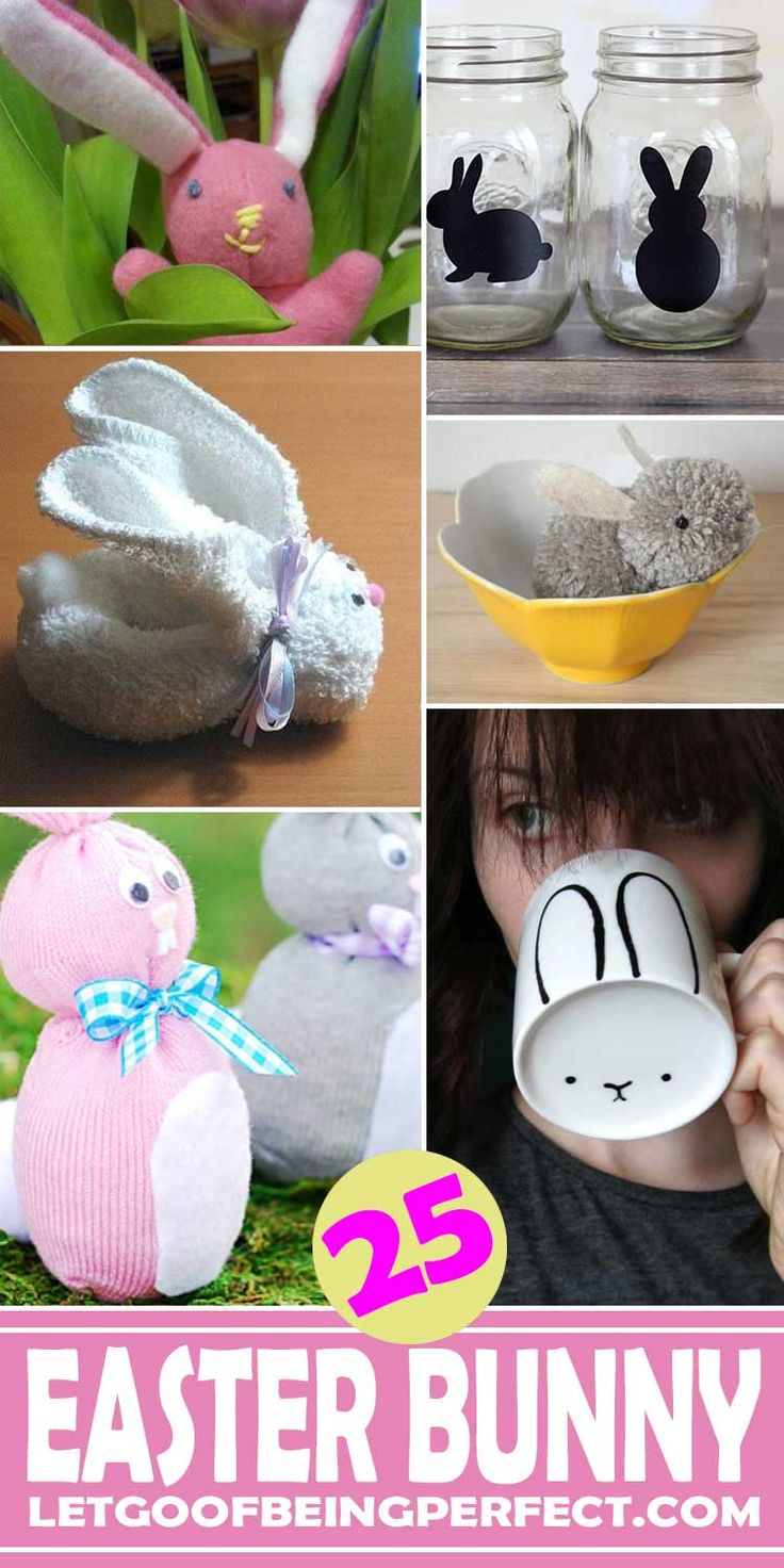 An awesome list of 25 really cute DIY bunny crafts and projects for Easter. Many are kid-friendly, some are sewing and/or embroidery, but all are super adorable craft featuring rabbits. All have step-by-step tutorials. Use up those fabric scraps. Explore the web site for more refashioning, sewing, tutorials with good, clear photos and instructions. http://letgoofbeingperfect.com