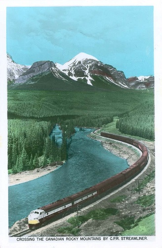 """CPR Passenger Train """"The Dominion"""" in the Rocky Mountains by Wrecksdale Wreck, via Flickr"""