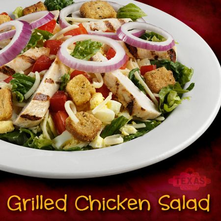 Crisp cold greens, strips of marinated chicken, jack cheese, egg, tomato, bacon, red onions, and croutons. Served with your choice of made-from-scratch dressing.