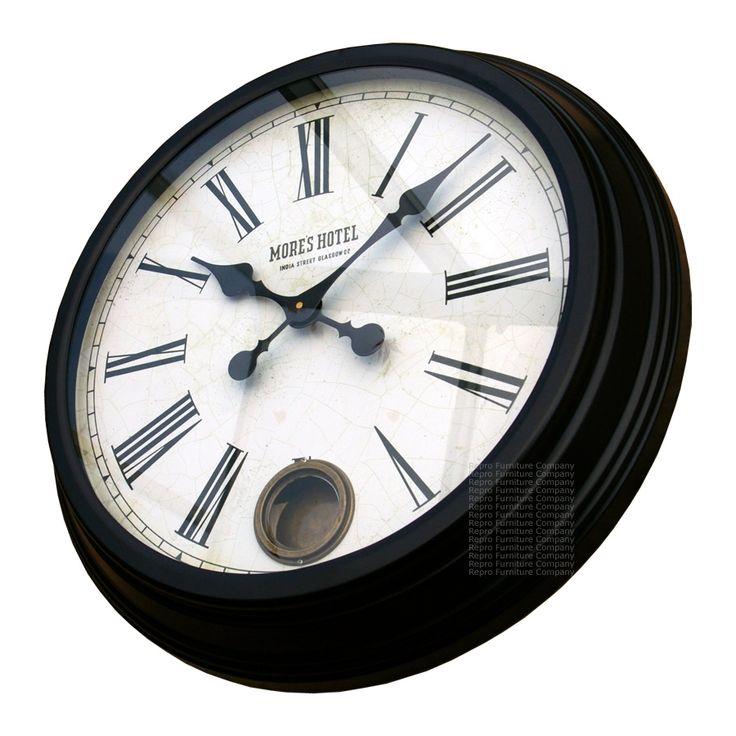 Large Black Kitchen Wall Clocks