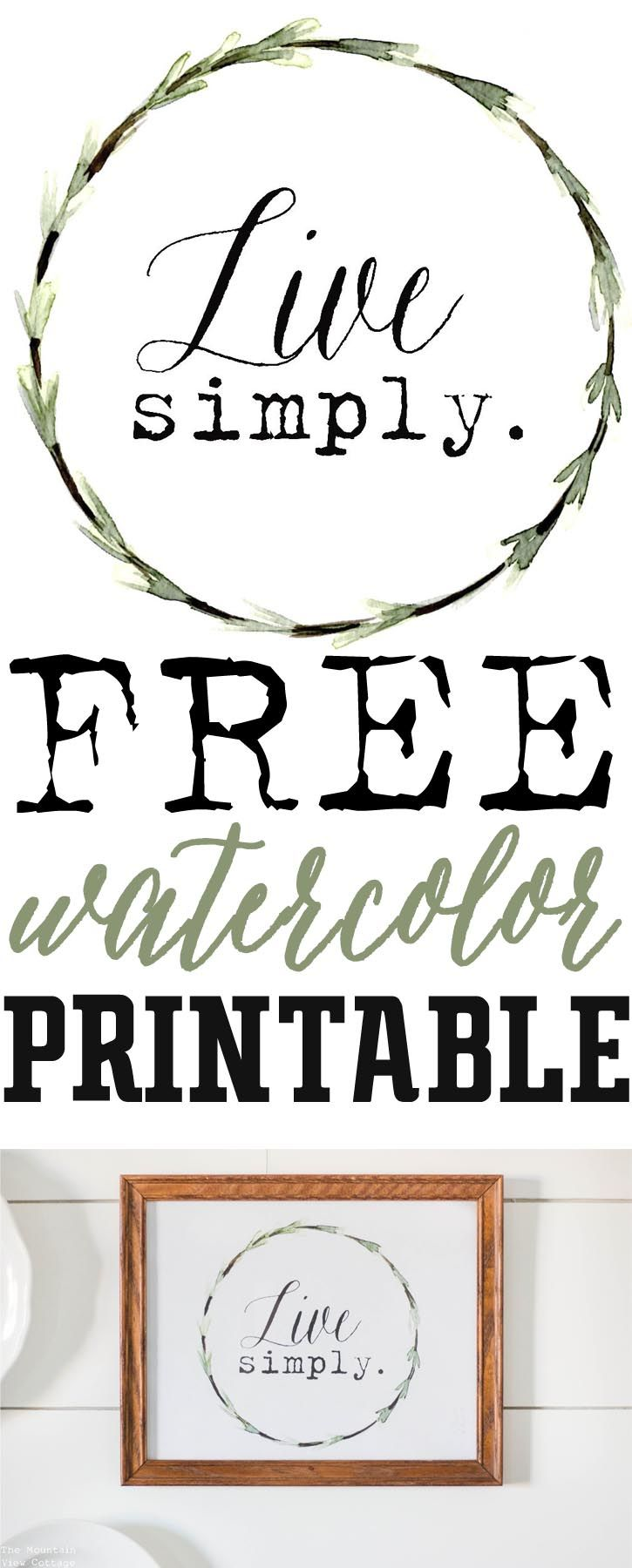 Free Printable Saturday-Live Simply Watercolor Wreath — The Mountain View Cottage