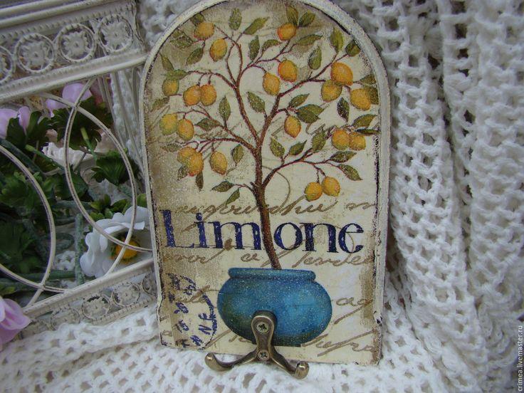 Купить Вешалка Лимонное дерево в горшке - лимонный, лимон, вешалка для кухни, Вешалка для полотенец