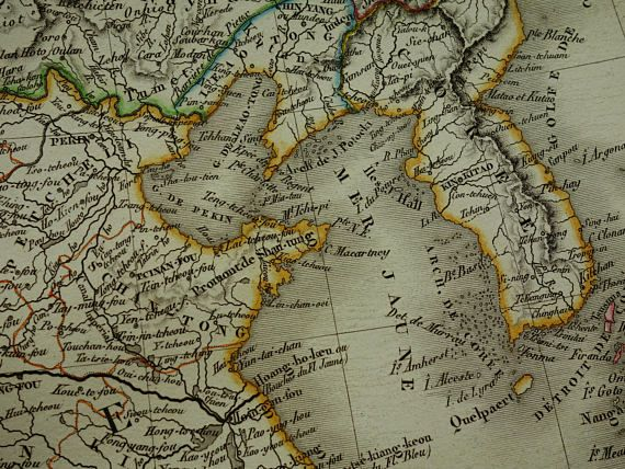 CHINA antique map of Chinese empire 1821 LARGE original