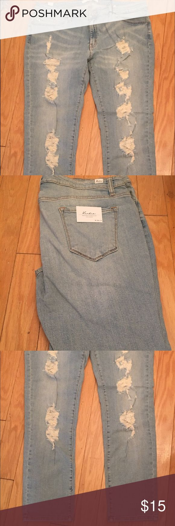 Plus size women distressed jeans brand new New Jeans