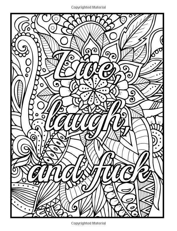FREE Printable Coloring Pages for Adults with Swear Words! | 783x600
