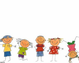 This background with Happy Kids is suitable for psychology presentations or preschool PowerPoint presentations