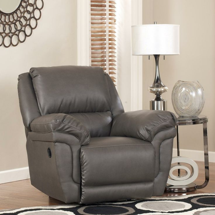 Magician DuraBlend   Slate Rocker Recliner By Signature Design By Ashley  Available At RoyalFurniture.com