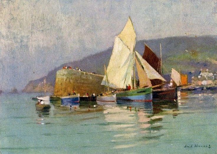 "Jim Eugène Sévellec (1897-1971) ~ ""Morgat, Presqu'île de Crozon"""