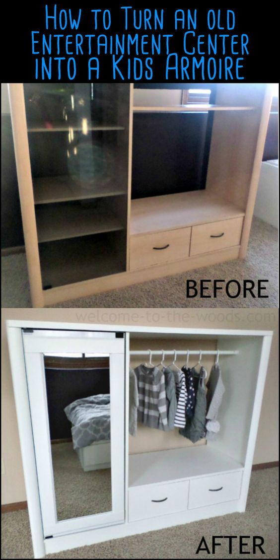 Here's a nice idea for the kids - an old entertainment center turned into a dress up closet! Is this going to be your next project?