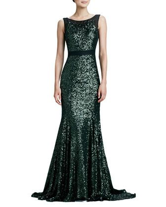 79 best premiere dresses images on pinterest bridal gowns short sleeveless green mermaid sequined gown by badgley mischka at neiman marcus junglespirit Images
