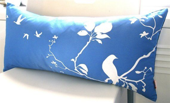 royal blue flying by pillow
