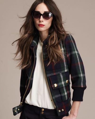 plaid fall bomber jacket: Fashion Style3, Jackets Lauren, Lauren Moffatt, Bomber Jackets, Families Tartan, Tartan Bomber, Cute Jackets, Plaid Jackets, Plaid Bomber