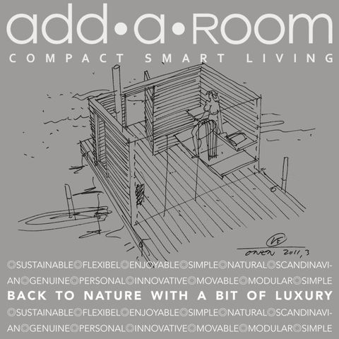 BACK TO NATURE WITH A BIT OF LUXURY  Think big - live small! Our well constructed modular log cabins have all the necessities you need without overconsuming. http://addaroom.dk/en/back-to-nature-with-a-bit-of-luxury