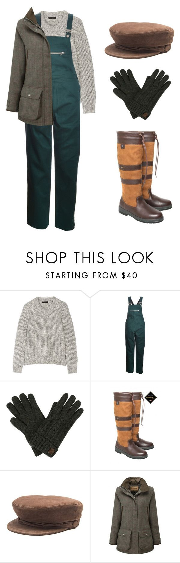 """farmgirl"" by needlework ❤ liked on Polyvore featuring Belstaff, DUBARRY and Maison Michel"