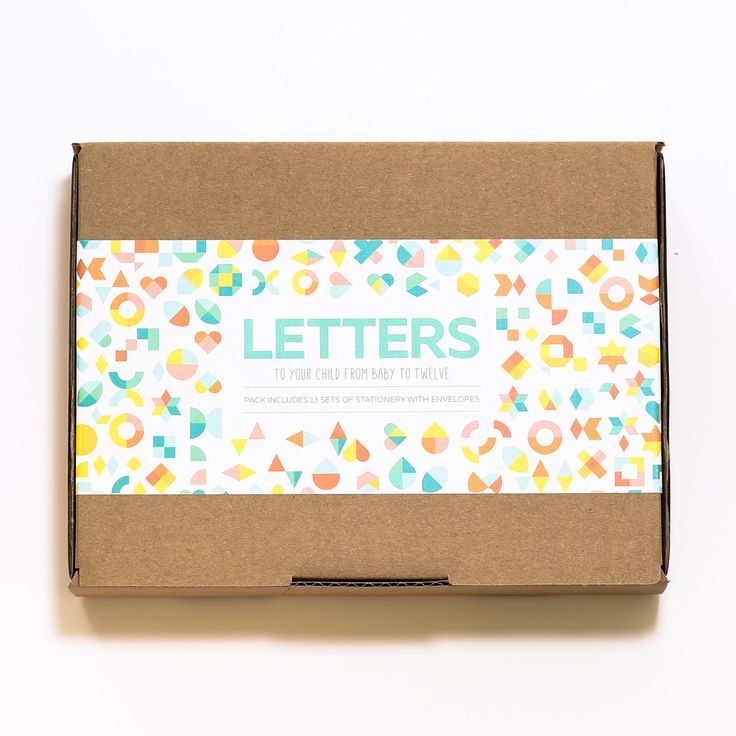 Two Little Ducklings Letters Gift Box. A stationery pack as a keepsake for your baby, milestones and questions from age 0 to 12.
