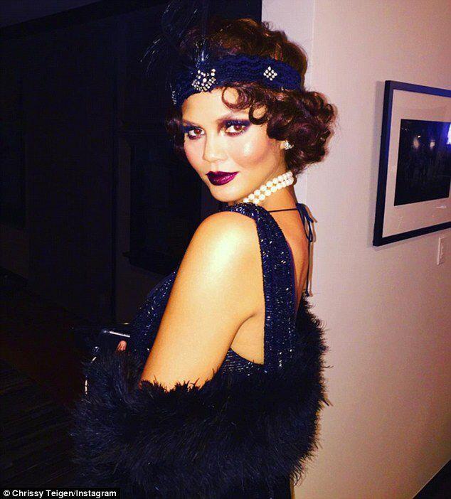 Chrissy Teigen attends Kris Jenner's 60th in style