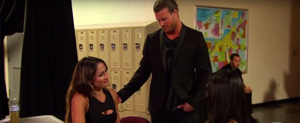 Embedded above is footage from the Total Divas season finale with Dolph Ziggler flirting with ex-girlfriend Nikki Bella and admitting that he still has feelings for her.