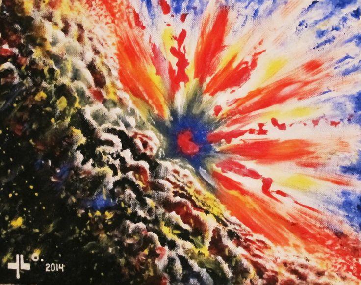 "Yordi Lara-Ochoa ""Energiakeskus 1"" Acrylic on canvas 30 x 24 cm 2014"