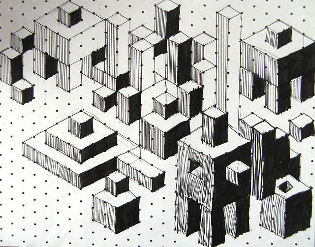 Isometric Cuboids  These 10 year olds have mastered the art of 3 dimensional cubes and cuboids