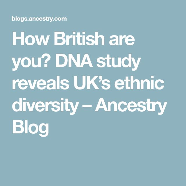How British are you? DNA study reveals UK's ethnic diversity – Ancestry Blog