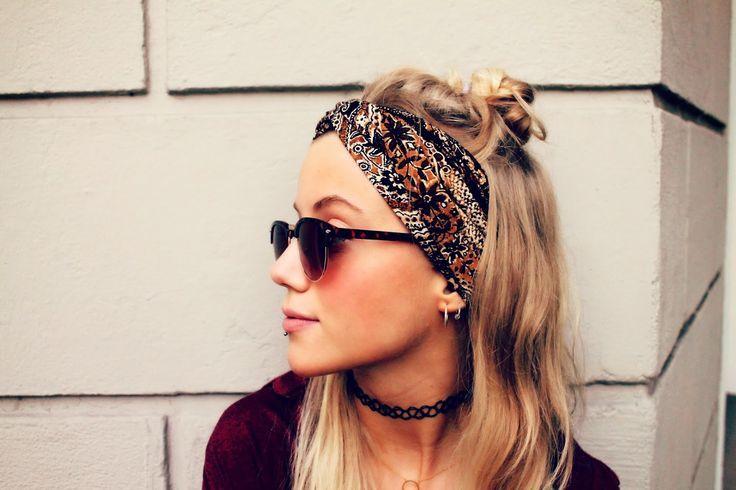 Sunglasses and bandana – #Bandana #haarband #and # Sunglasses