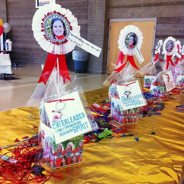 Cute Cheerleading Gift Ideas | Cheer Banquet Decorating Ideas | cheer party