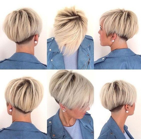 Beautiful Undercut - Pixie Bowl Cut, Short Hairstyles for Women Fine Hair