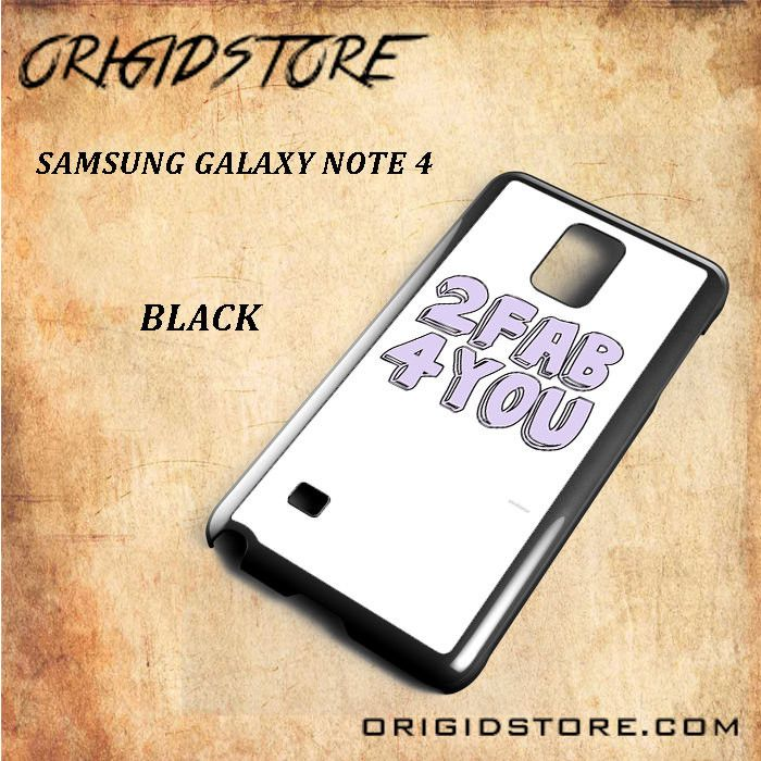 2 Fab 4 You For Samsung Galaxy Note 4 Snap On and 3D Case