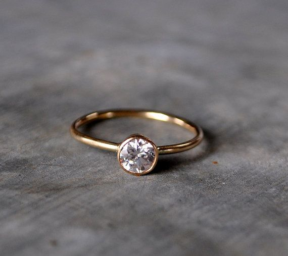 Moissanite diamond  engagement ring