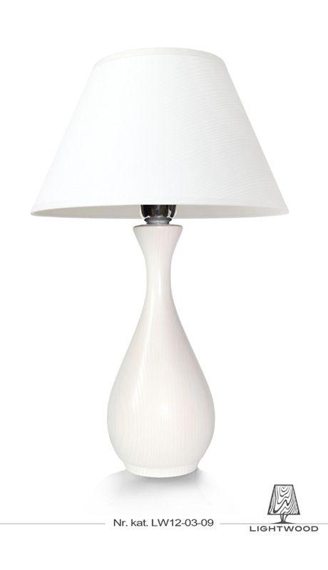 Lampa stojąca biała, wazon Lightwood http://lightwoodsklep.com/