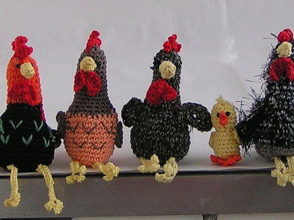 troupeau de poulet au crochet ce dont vous avez besoin: du fil de coton (z …   – Biene