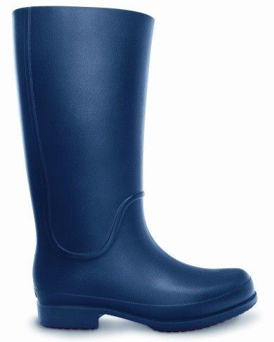 Crocs Ladies Wellie Rain Boot Navy/Cranberry