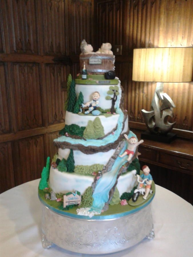 wedding cakes with waterfalls 17 best images about scenery cakes on the 26134
