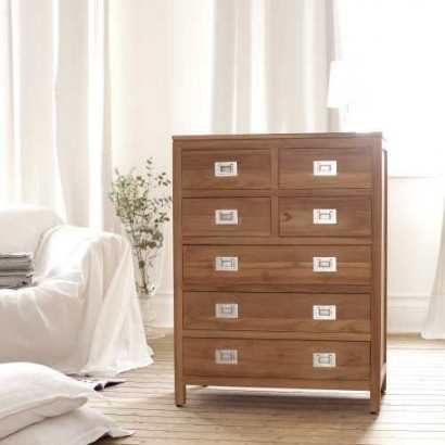 Coffee Tek Teak Chest of 7 Drawers. Tikamoon furniture at tikamoon.co.uk !