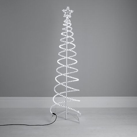Buy House by John Lewis Outdoor Spiral Tube Christmas Tree, White, 6ft Online at johnlewis.com