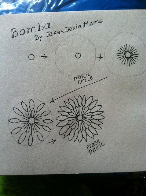 Bamba's doodled flowers