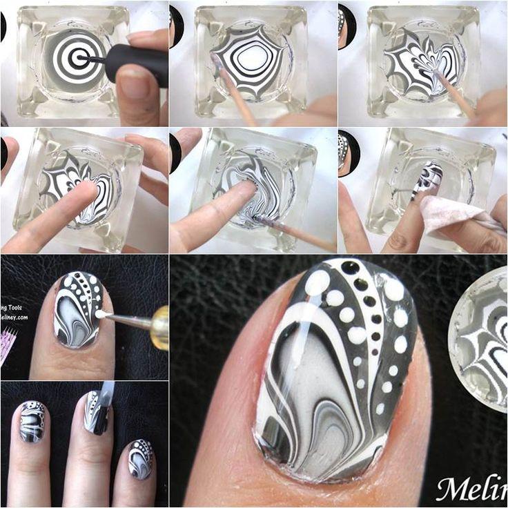 How To Make Swirl Nail Polish Designs