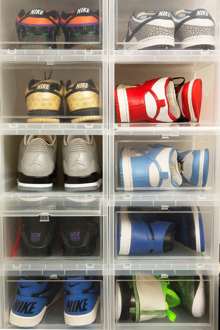 Inside NYC's Craziest Sneaker Closets #refinery29  http://www.refinery29.com/sneakers#slide6  Are only your favorite sneakers housed in this special container? I use the drop fronts for a few reasons. First, they're vented, so the shoes aren't totally cut off. Second, the organizational factor. And, third, for accessibility. I keep very few pairs in another storage area that I cycle in seasonally and also in containers.Any predictions on what you think will be the next It sneaker?  The next…