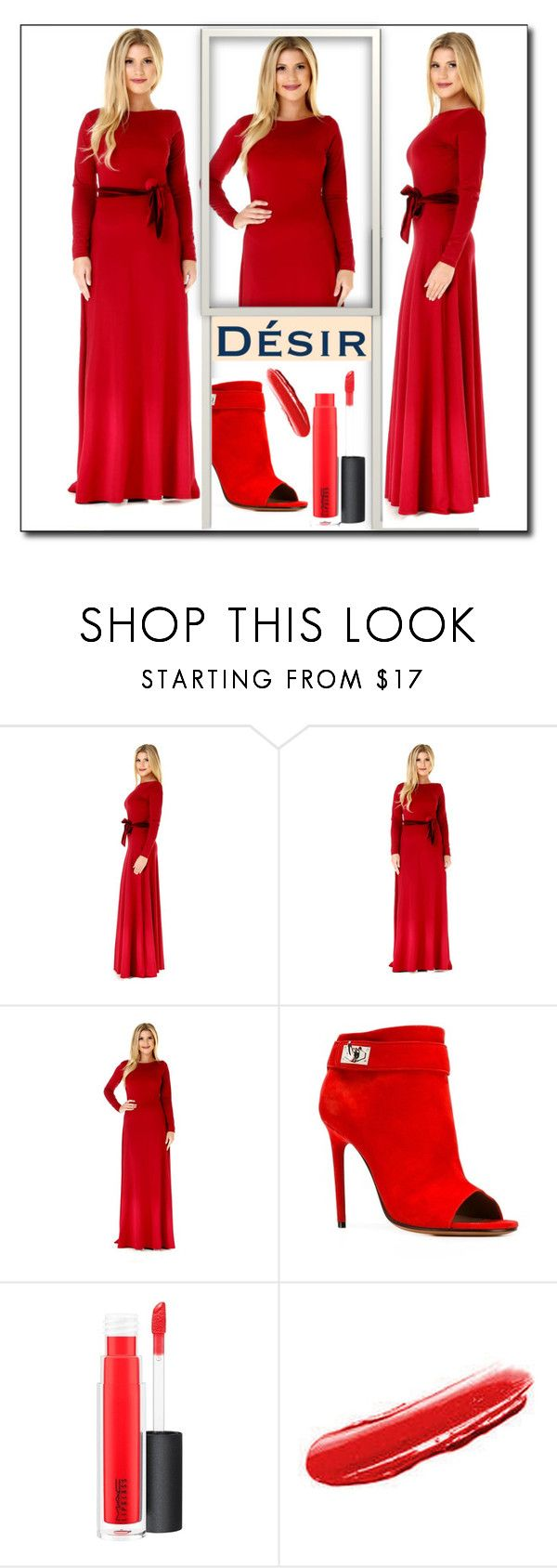 """""""Desir Vale 12"""" by majaa12 ❤ liked on Polyvore featuring Givenchy, MAC Cosmetics and Yves Saint Laurent"""