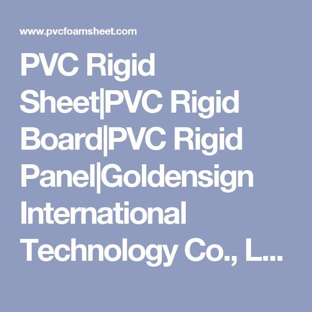 PVC Rigid Sheet|PVC Rigid Board|PVC Rigid Panel|Goldensign International Technology Co., Ltd.