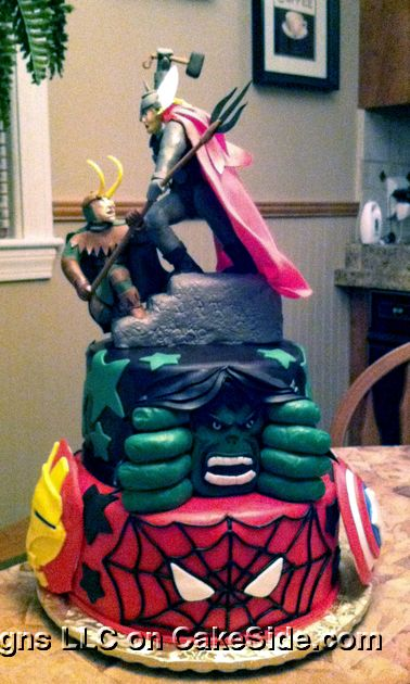 Avengers Cake by Michelle's Cake Designs on www.cakeside.com!