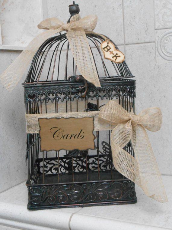 Wedding Birdcage Card Holder / Wedding Card Box / by ThoseDays, $60.00