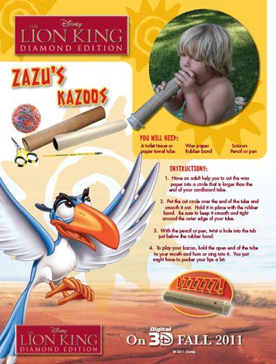 Lion King - Make Zazu's Kazoos